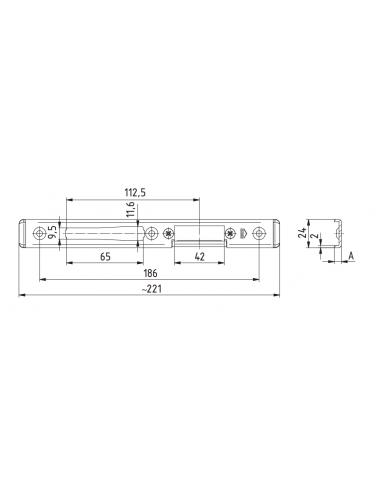 Zaczep regulowany ROMB 040-004 E-C8...